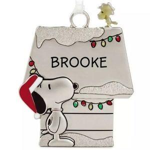HALLMARK Peanuts BROOKE Snoopy Charm Ornament